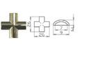 Х-элемент для плоского профиля 7 мм золото, арт.125