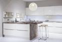 Кухня Rehau белый глянец