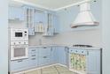 Кухня пленка МДФ патина голубая