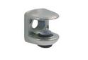 Полкодержатель П-обр.для стекла до 8 мм под шуруп арт.0707