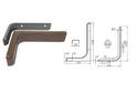 Полкодержатель L236 мм коричневый арт.4411