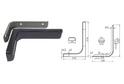 Полкодержатель L120 мм черный арт.4405