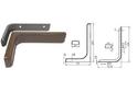 Полкодержатель L120 мм коричневый арт.4404