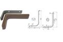 Полкодержатель L180 мм коричневый арт.4408