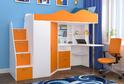 Детская ЛДСП Оранжевый + Белый кантри