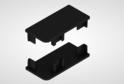 Комплект закр.загл для профиля верх.ящ н/б, черный 02184