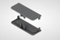Комплект закр.загл для профиля сред.ящ н/б, серый 02179