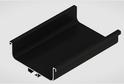 Профиль-ручка L-2025/4050 мм для сред.ящ. н/б, черный 52173/02173
