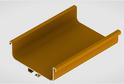 Профиль-ручка L-2025/4050 мм для сред.ящ. н/б, золото 52172/02172