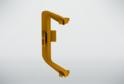 Угол внутренний для профиля сред.ящ н/б, золото 02297